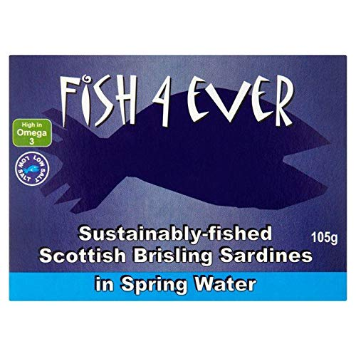 Fish 4 Ever Scottish Brisling Sardines in Spring Water 105g - 2