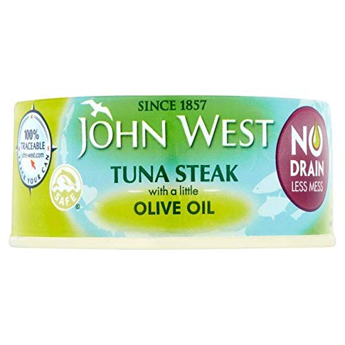 John West No Drain Tuna Steaks Olive Oil 110g
