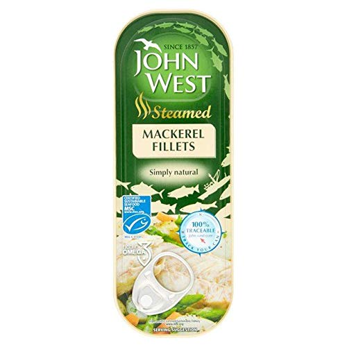 John West Steam Cooked Mackerel Fillets Natural 110g