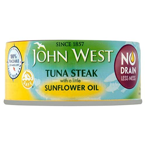 John West No Drain Tuna Steaks Oil 110g