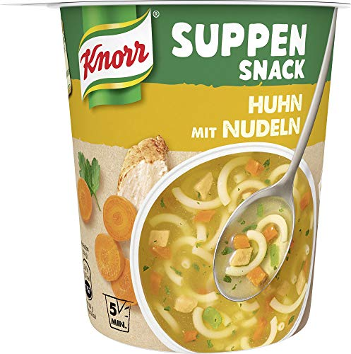 Knorr Suppen Snack Huhn mit Nudeln, 39 g
