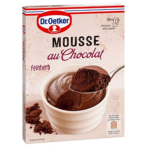 Dr. Oetker Mousse Au Chocolat Fein Herb, 86 g Packung