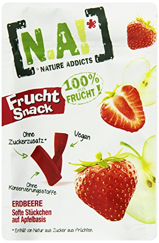 Nature Addicts Frucht Snack Erdbeere, 1er Pack (10 x 35 g)