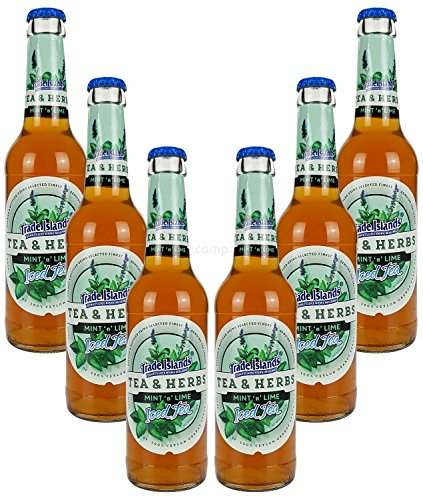 Trade Island Tea & Herbs Mint Lime Ice Tea - Minz Limette Eistee - 6x330ml = 1980ml