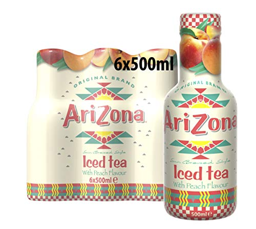 Arizona Ice Tea Peach PET, 6er Pack, EINWEG (6 x 500 g)
