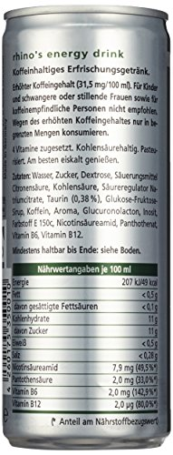 Rhino's Energy Drink Classic, 24er Pack, EINWEG (24 x 250 ml) - 2