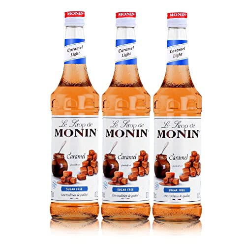 Monin Sirup Caramel Light, 0,7L 3er Pack