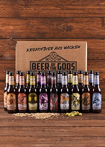 Wacken Brauerei Göttergabe – 18 x 0,33l Beer of the Gods – Craftbeer Paket – Craft Beer Set Bierbox  Geschenkset Bier - 7