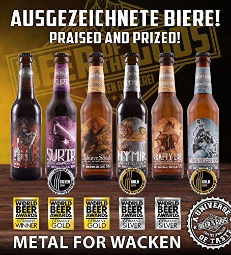 Wacken Brauerei Göttergabe – 18 x 0,33l Beer of the Gods – Craftbeer Paket – Craft Beer Set Bierbox  Geschenkset Bier - 6
