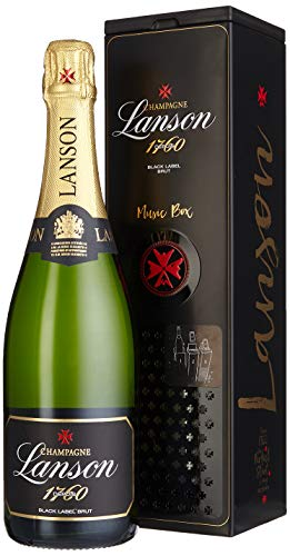 Lanson Black Label in Geschenkdose portable musicbox Champagner (1 x 0.75 l)