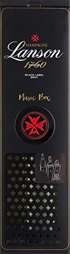 Lanson Black Label in Geschenkdose portable musicbox Champagner (1 x 0.75 l) - 2