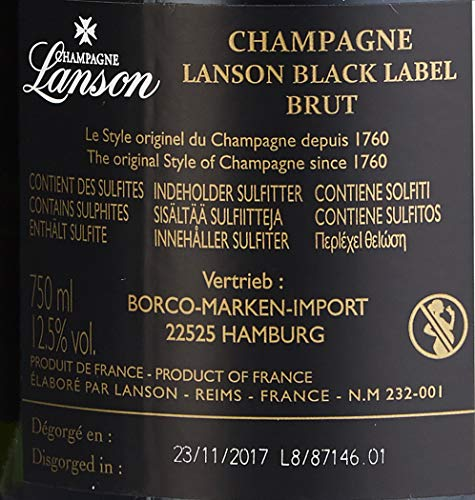 Lanson Black Label in Geschenkdose portable musicbox Champagner (1 x 0.75 l) - 8