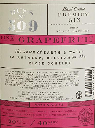 Buss N°509 Gin Pink Grapefruit Belgium Flavor Author Collection 2015 (1 x 0.7 l) - 3