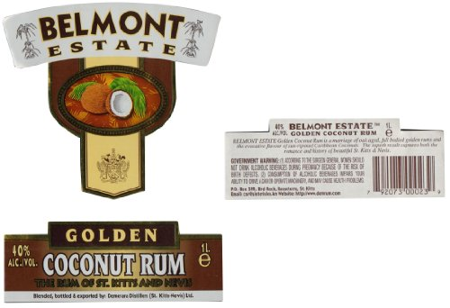 Belmont Estate Gold Coconut Rum (1 x 1 l) - 3