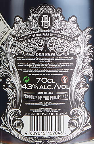 Don Papa Rum 10 Years Old Rum (1 x 0.7 l) - 6
