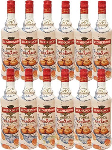 Rushkinoff Vodka & Caramelo, 12er Pack (12 x 1,0 l)