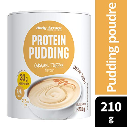 Body Attack Protein Pudding Caramel Toffee Cream, 1er Pack (1 x 300 g) - 2