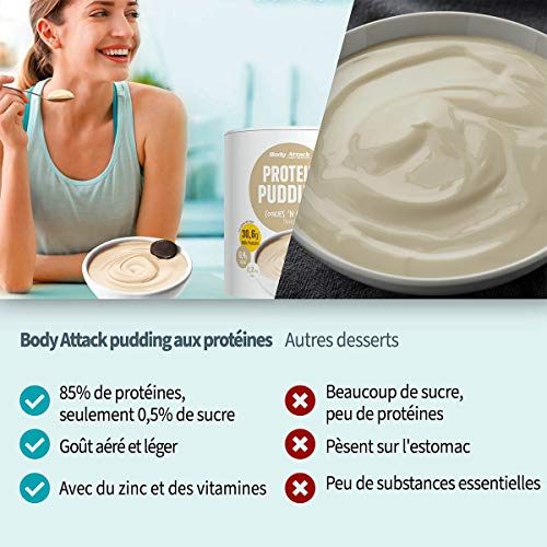 Body Attack Protein Pudding Caramel Toffee Cream, 1er Pack (1 x 300 g) - 4