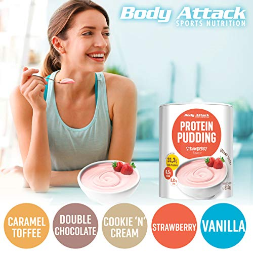 Body Attack Protein Pudding Caramel Toffee Cream, 1er Pack (1 x 300 g) - 5