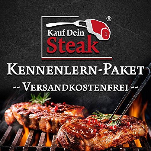 "Das ""Kauf Dein Steak"" Kennenlern-Paket incl. Rumpsteak (Dry-Aged), Porterhousesteak (Dry-Aged), Rib-Eye-Steak ohne Knochen (Dry-Aged), T-Bone-Steak (Dry-Aged)"