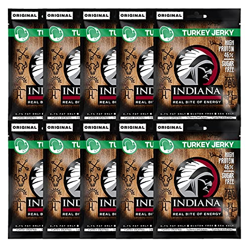 Indiana Jerky Turkey Original, 10er Pack (10 x 25 g)