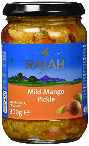 Rajah Mango Pickle, mild, 3er Pack (3 x 300 g)