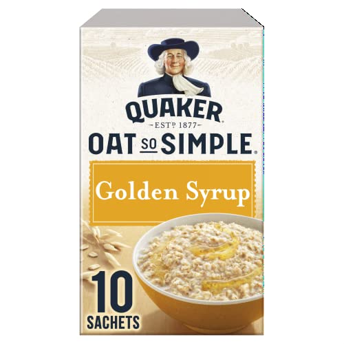 Quaker Oat So Simple Golden Syrup 10 x 36g - Vollkorn Haferflocken mit Golden Syrup
