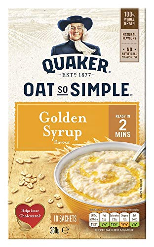 Quaker Oat So Simple Golden Syrup 10 x 36g – Vollkorn Haferflocken mit Golden Syrup - 4
