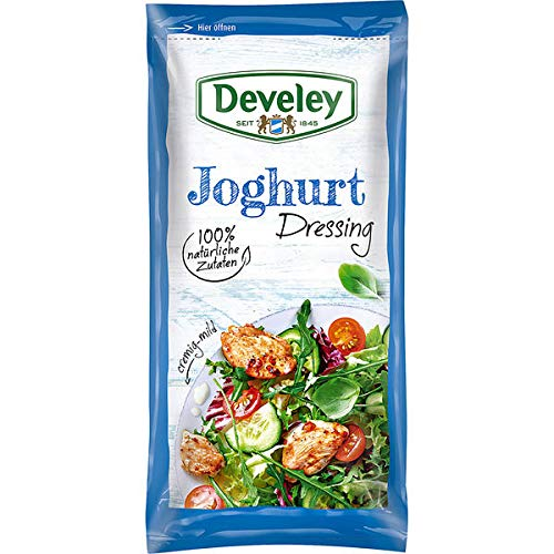 12 Beutel Develey Salat Dressing Joghurt a 75ml Fertig Salatsauce