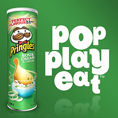 Pringles Sour Cream & Onion Chips | 6er Party-Pack (6 x 200g) - 3