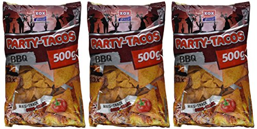 XOX Party Tacos Barbecue, 3er Pack (3 x 500 g) - 5