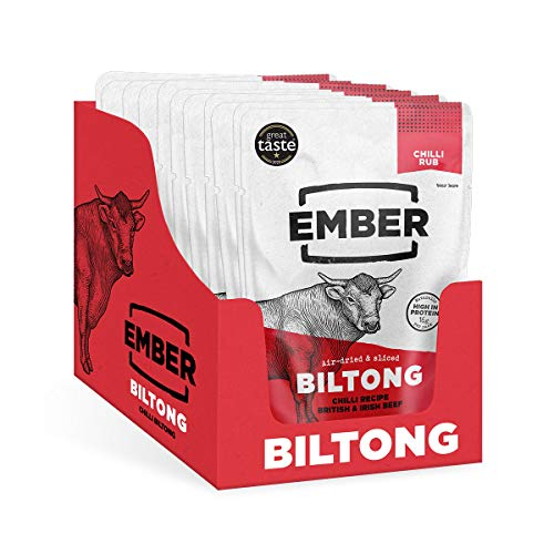 Ember Biltong - Chilli Beef Jerky - Proteinreicher Snack - Chili (10x30g)