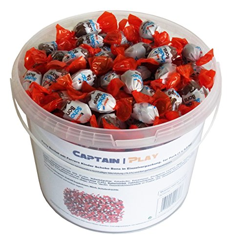 Party Bucket mit Ferrero Kinder Schoko Bons in Einzelverpackung, 1er Pack (1 x 1,2 kg) - 4