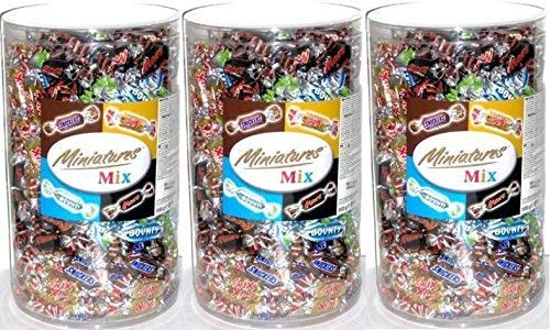 3 x MINIATURES MIX MARS TWIX SNICKERS BOUNTY MINIS RIEGEL 3000g