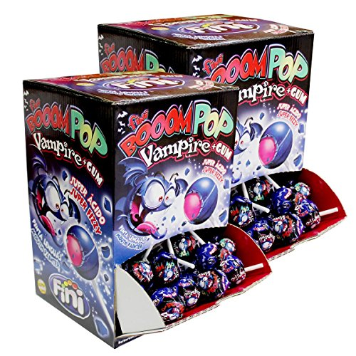 Fini Booom Pop Vampire plus Gum Lollies 100 stk. - super sauer (2er Pack)