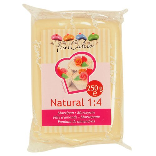 FunCakes Marzipan Natural 1:4 Ready-to-Roll, 1er Pack (1 x 250 g)