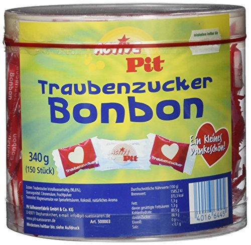 Active Pit Herz Traubenzucker 1 Pack (340 g)