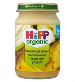 2 x Hipp Organic Breakfast Tropical Cereal Topped With Yogurt 7+ Months 160G