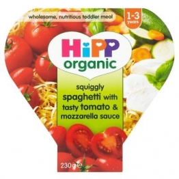 6 x Hipp Growing Up Meal Spaghetti Tasty Tomato & Mozzarella Sauce 12mth+ 260g