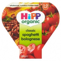 6 x Hipp Organic Growing Up Meal Classic Spaghetti Bolognese 12mth+ (260g)