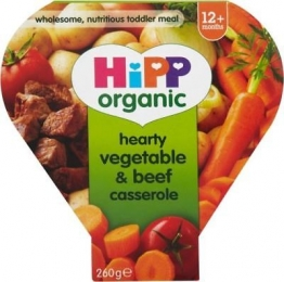 6 x Hipp Organic Growing Up Meal Hearty Vegetable & Beef Casserole 12mth+ (230g)