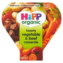 6 x Hipp Organic Growing Up Meal Hearty Vegetable & Beef Casserole 12mth+ (260g)
