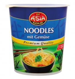Asia Gold - Instant Nudel Cup mit Gemüse 12 x 49g  Noodles Grosspackung