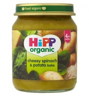 Hipp Organic Cheesy Spinach & Potato Bake 4+ Months 125g (Pack of 2)