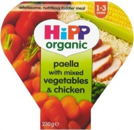 Hipp Organic Paella With Mixed Vegetable & Chicken 1-3Yrs (230g) (Pack of 6)