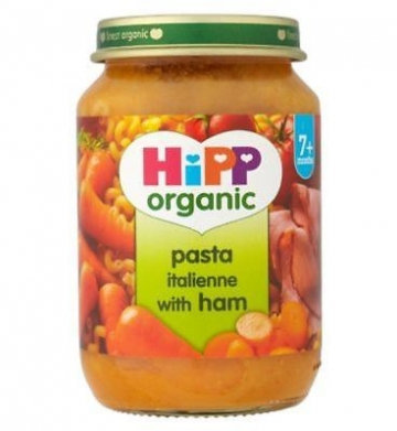 Hipp Organic Pasta Italienne With Ham 7+ Months 190g (Pack of 2)