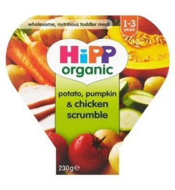 Hipp Organic Potato, Pumpkin & Chicken Scrumble 1-3 Years 230g (Pack of 2)