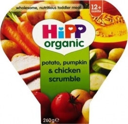 Hipp Organic Potato, Pumpkin & Chicken Scrumble 1-3Yrs (230g) (Pack of 6)