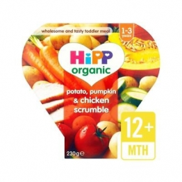 Hipp Organic Potato, Pumpkin & Chicken Scrumble 12+ Months 230g (Pack of 6)
