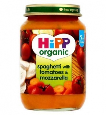Hipp Organic Spaghetti With Tomatoes & Mozzarella 7+ Months 190g (Pack of 2)